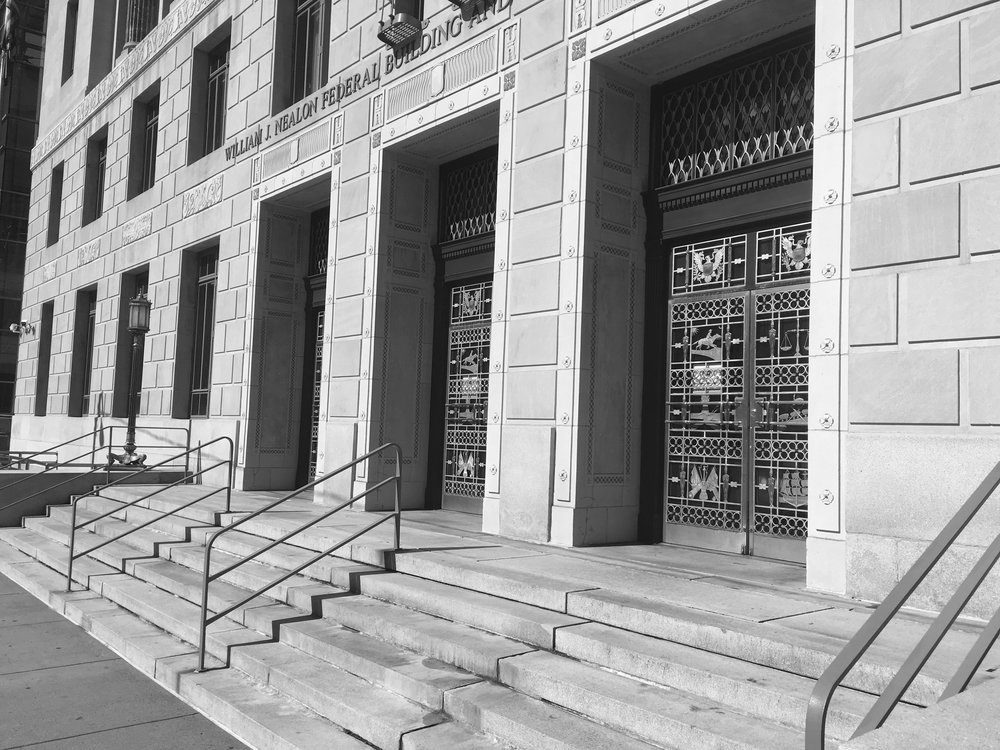 William J. Nealon Federal Building B&W, photo by Brandon R. Reish