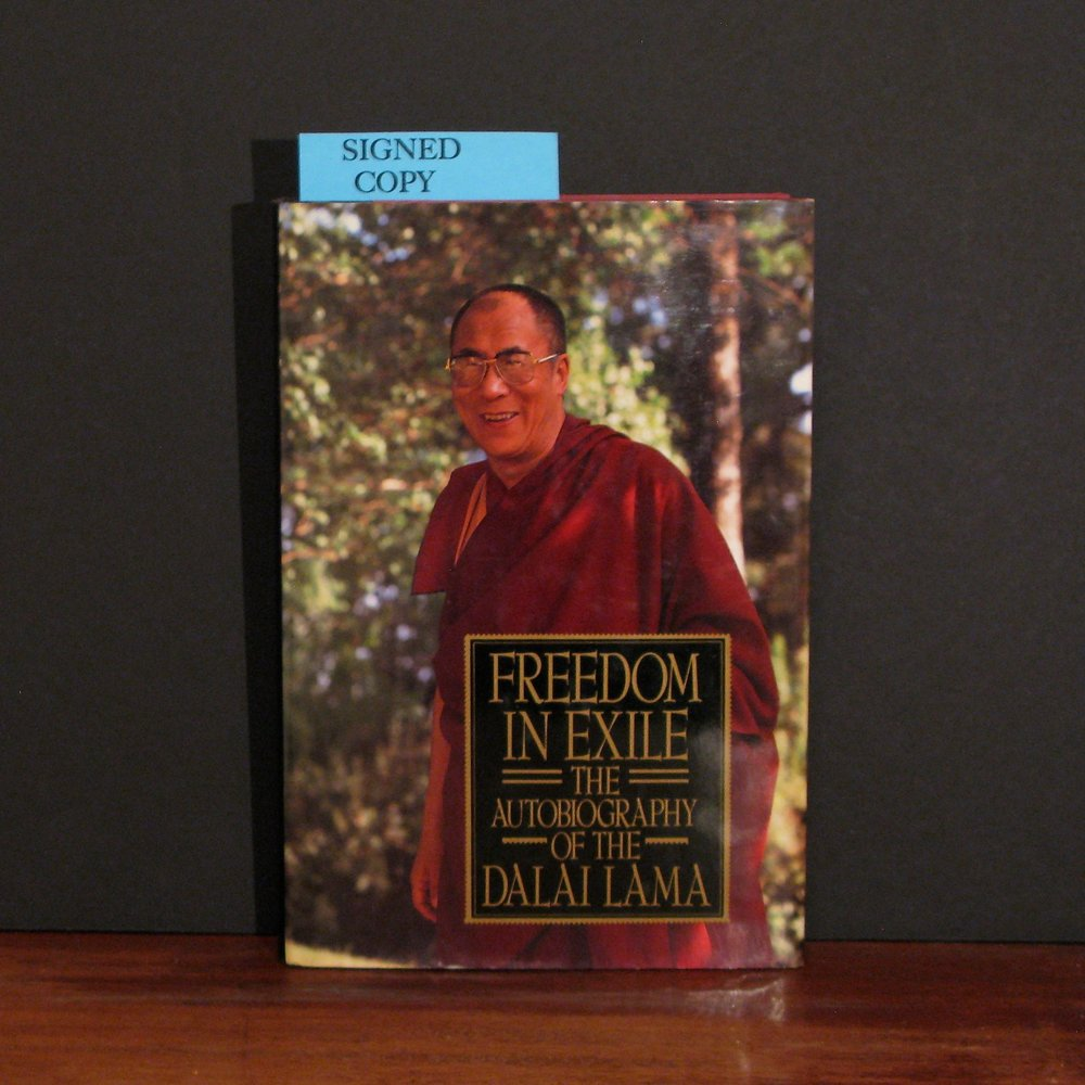 FREEDOM IN EXILE: THE AUTOBIOGRAPHY OF THE DALAI LAMA by His Holiness The Dalai Lama of Tibet (Tenzin Gyatso) A signed copy.