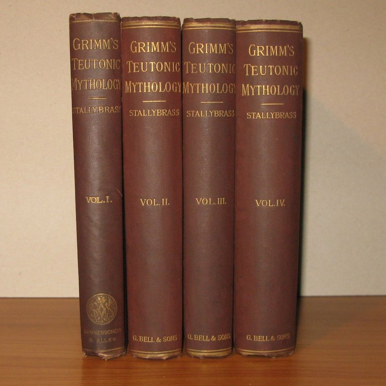TEUTONIC MYTHOLOGY by Jacob Grimm, 4 Volumes (London, 1880-1888)
