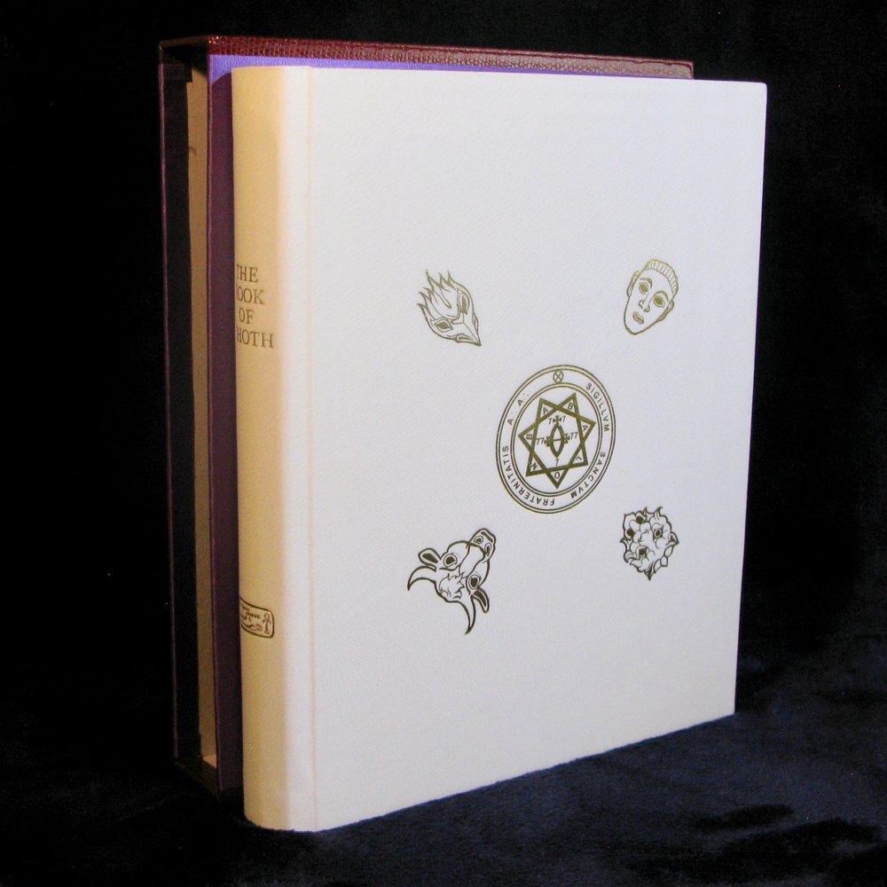 THE BOOK OF THOTH (2017) by Aleister Crowley (Deluxe Limited Edition of 22 copies in Full Vellum Binding)
