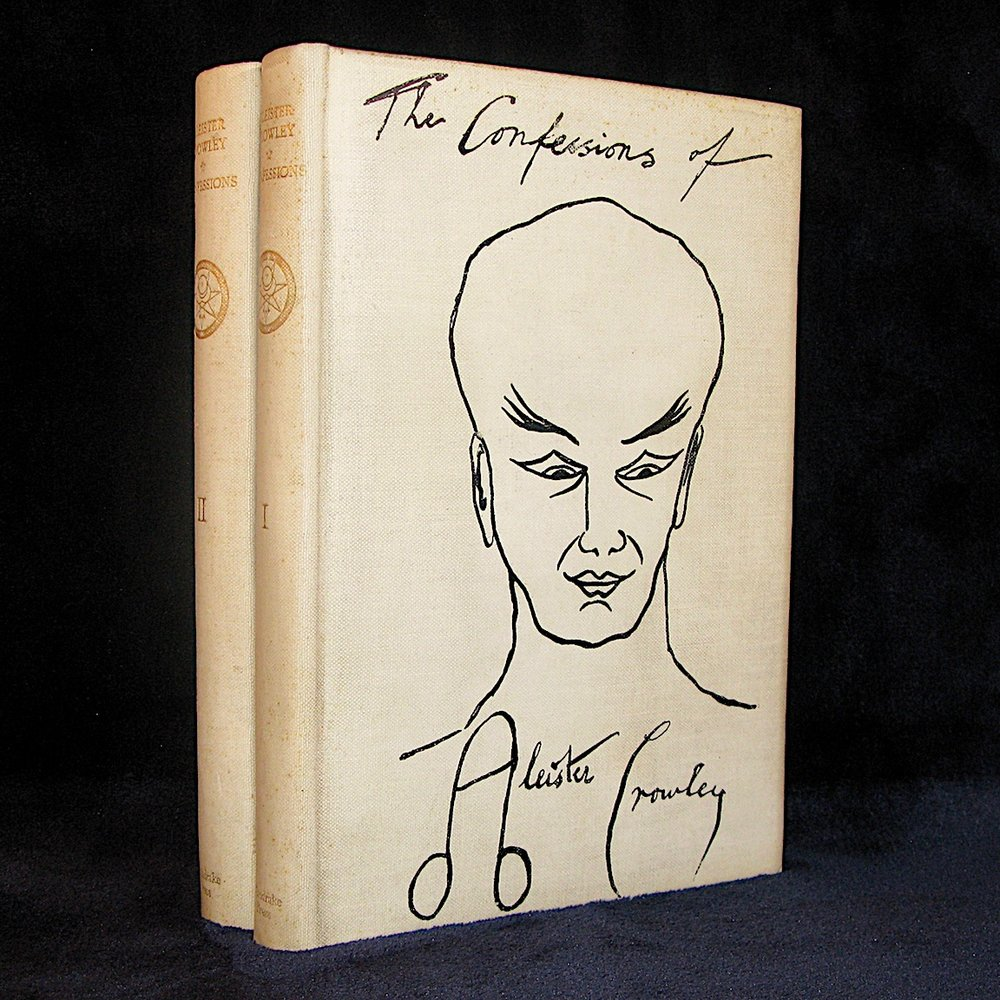 THE SPIRIT OF SOLITUDE. The Confessions of Aleister Crowley (1929) by Aleister Crowley (2 Volumes plus Prospectus)