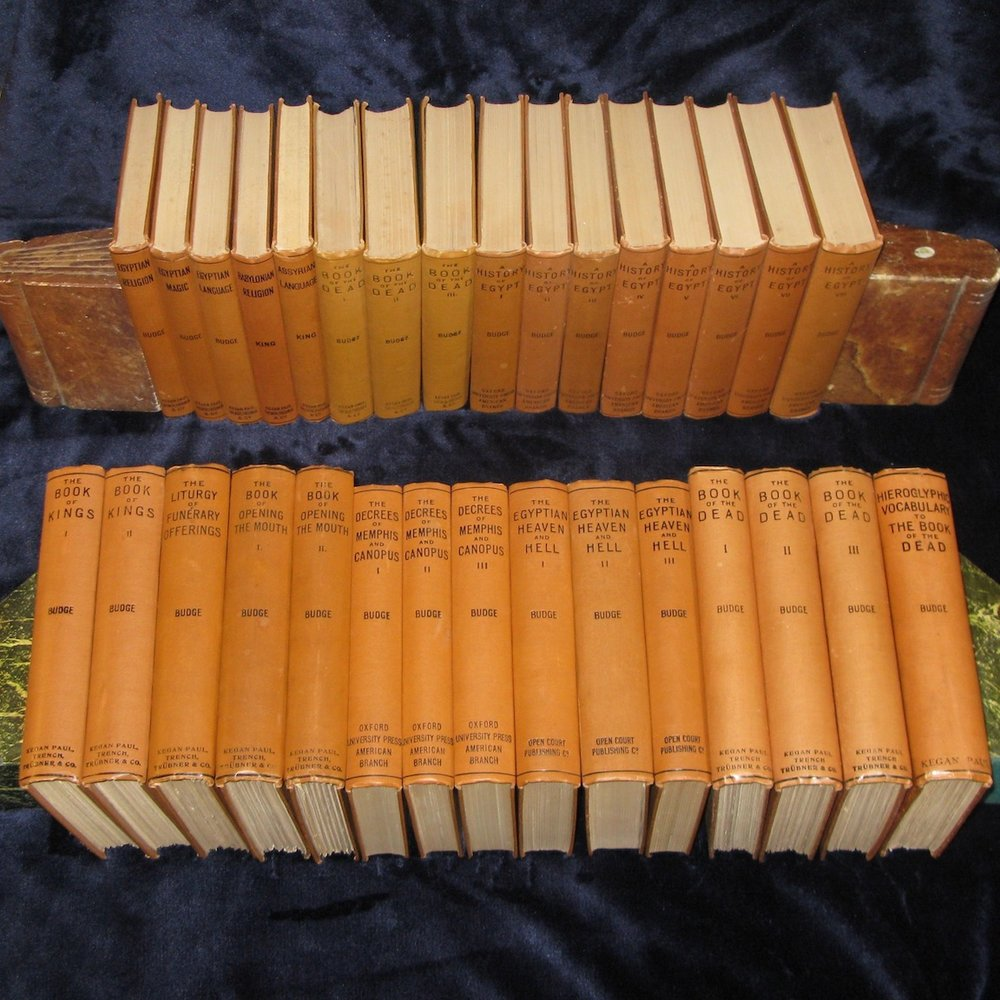 BOOKS ON EGYPT AND CHALDAEA (Complete Set of 31 Volumes) by E. A. Wallis Budge and L. W. King (1901-1911)