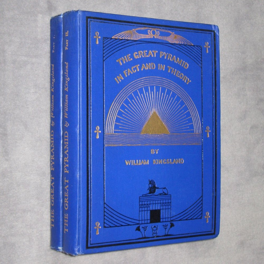 THE GREAT PYRAMID IN FACT AND THEORY (1932-1935) by William Kingsland (2 Volumes, Complete)