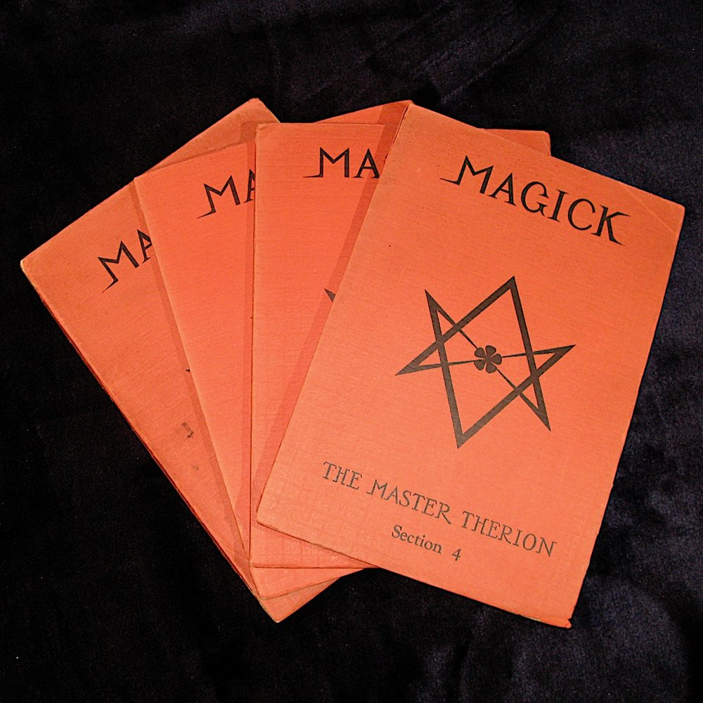 MAGICK IN THEORY AND PRACTICE (1929) by Aleister Crowley in 4 Parts (True First Edition)