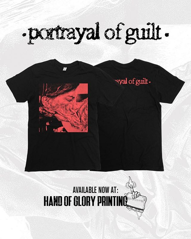 Preorders still going for this exclusive @portrayalofguilt shirt! Orders all ship at the beginning of October. Snag yours in our store. Direct link is in our bio.