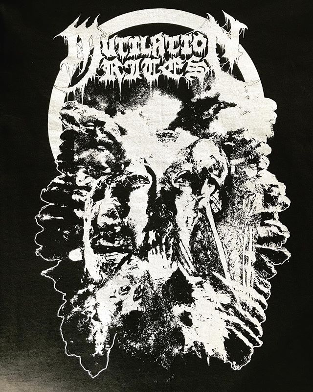 Recently knocked out some white discharge prints for the upcoming @mutilationrites tour. Check their dates!