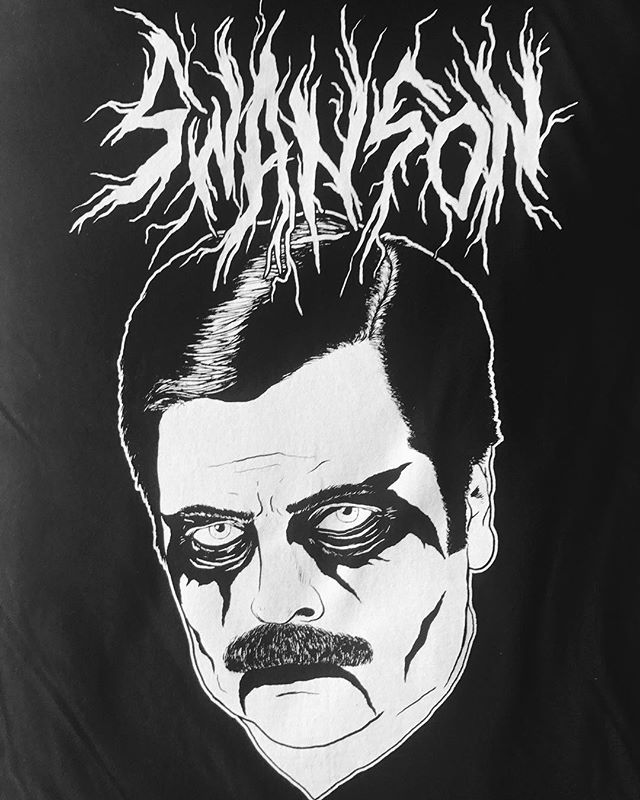 Bacon, eggs, black metal.  Design by Jeff Rogers (@metaljeff)