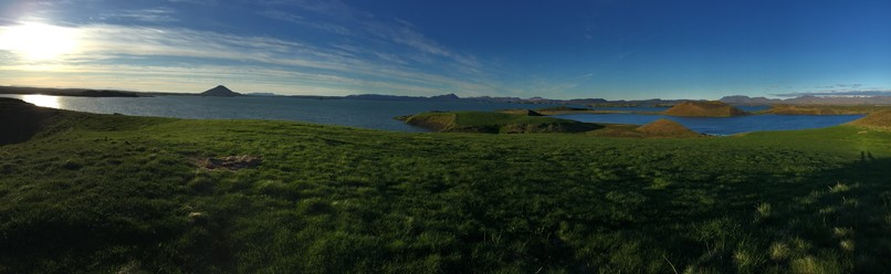 Cycling around Lake Myvatn, Iceland
