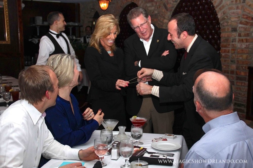 Orlando magician Kostya Kimlat provides entertainments at rehearsal dinners