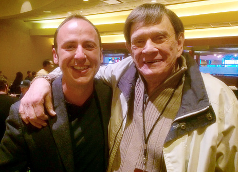 Kostya Kimlat with magic legend, Johnny Thompson