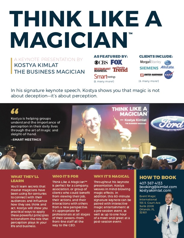 Keynote: Think Like A Magician™