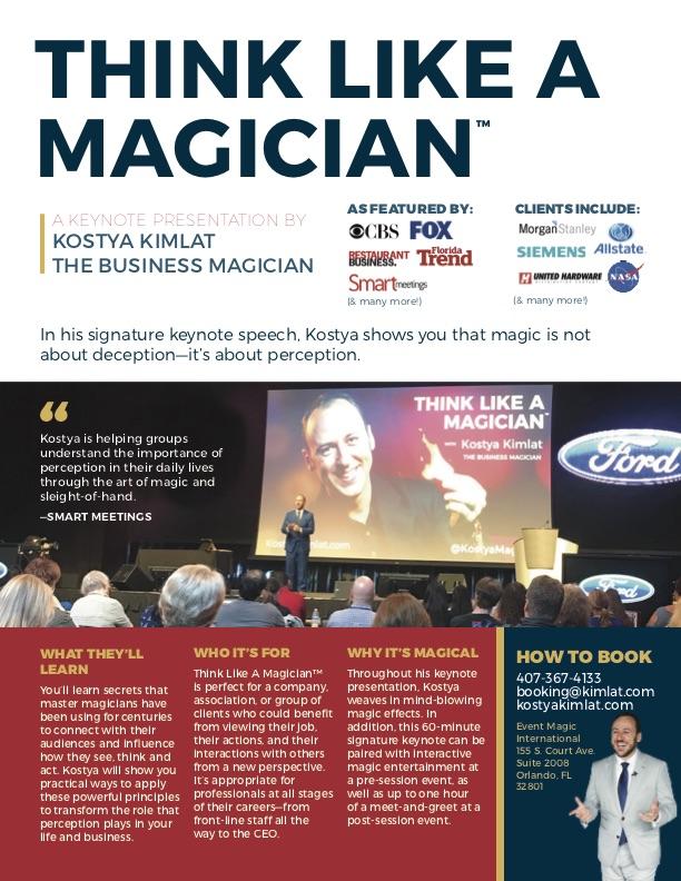 Keynote: Think Like A Magician™