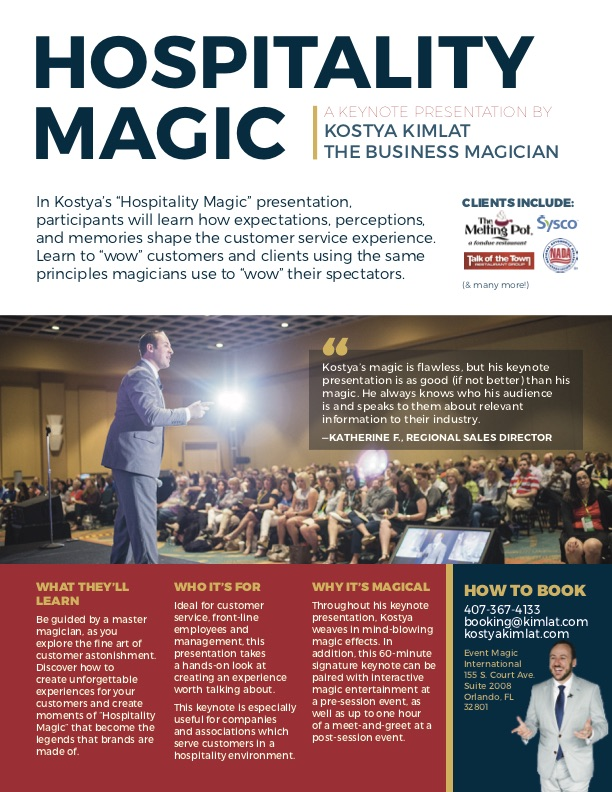 Keynote: Hospitality Magic