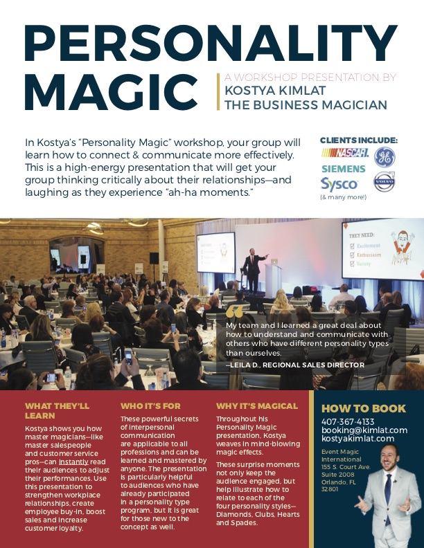 Keynote: Personality Magic