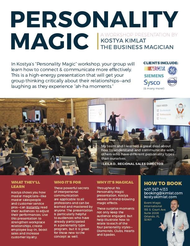 Keynote: Personality Magic