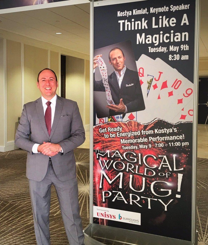 Presenting my signature keynote, Think Like A Magician™