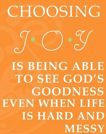 Choose JOY...It shows all over you!
