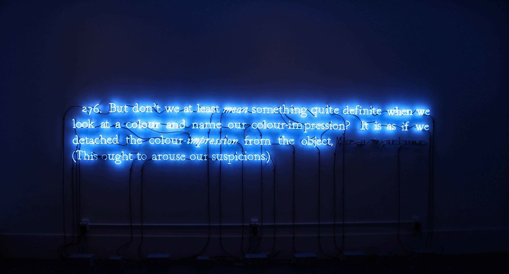 On Color Blue by Joseph Kosuth