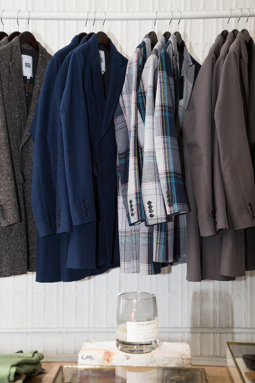 Outerwear selection.