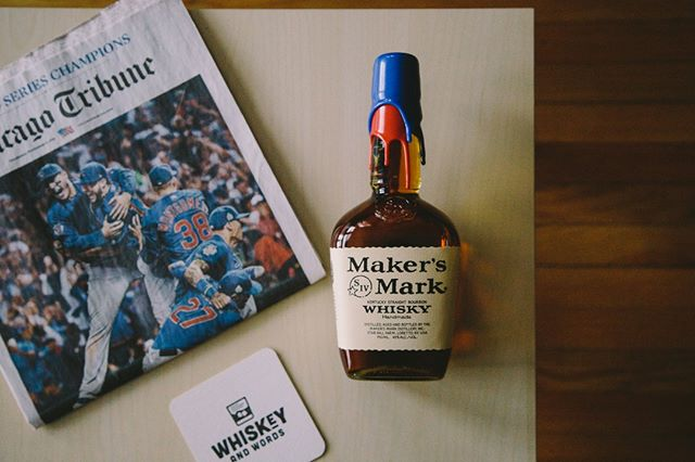 """""""The great thing about it is, we became such great losers. Good sports. Good losers. I just hope we're good winners. I hope we're good winners. I hope we're just as good sports as winners as we were as when we didn't win..."""" said well by Bill Murray. @cubs @makersmark #whiskeyandwords #makersmark #cubs"""