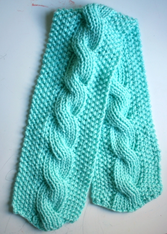 Bulky Knit Reversible Cable Scarf Pattern Picture Healer Art And