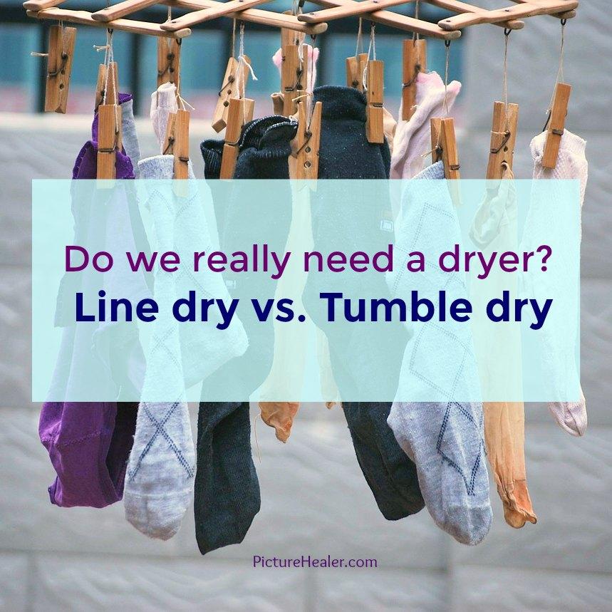 line dry vs tumble dry