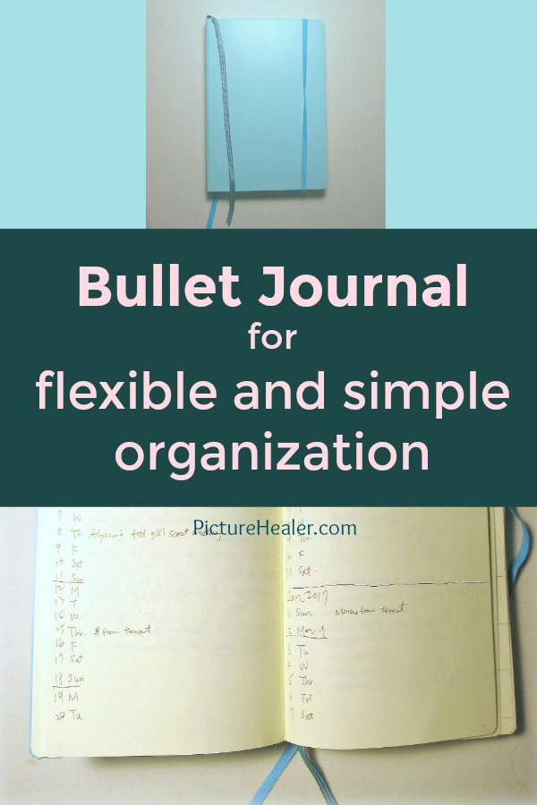 bullet journal simple flexible organizatoin