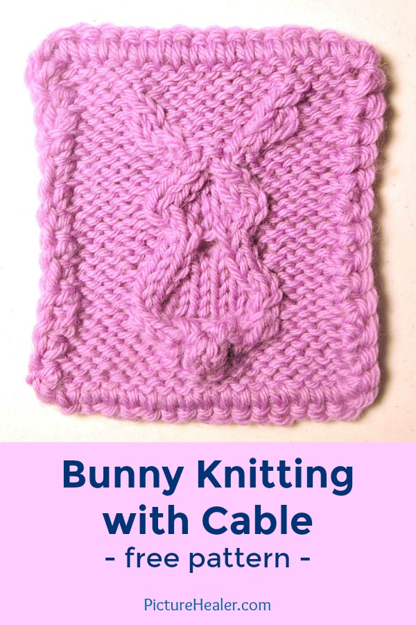 Bunny Knitting with Cable — Picture Healer - Art and craft tutorial ...