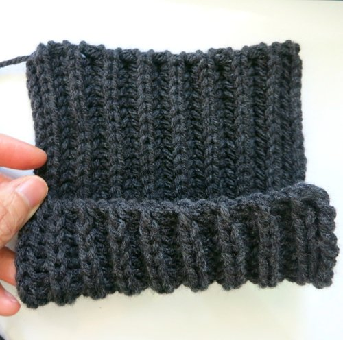 How To Machine Knit A Half Fishermans Rib Scarf Picture Healer