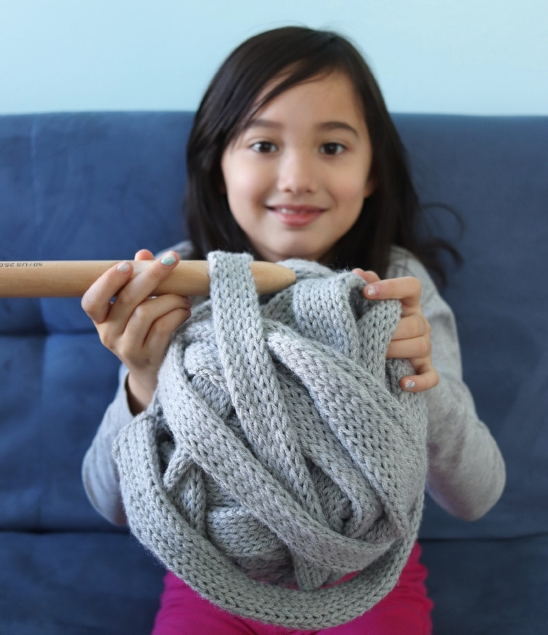 machine knit super bulky yarn