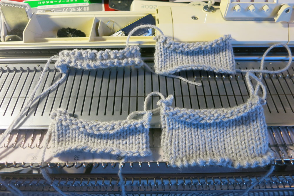 4 ways of machine knitting cast on.