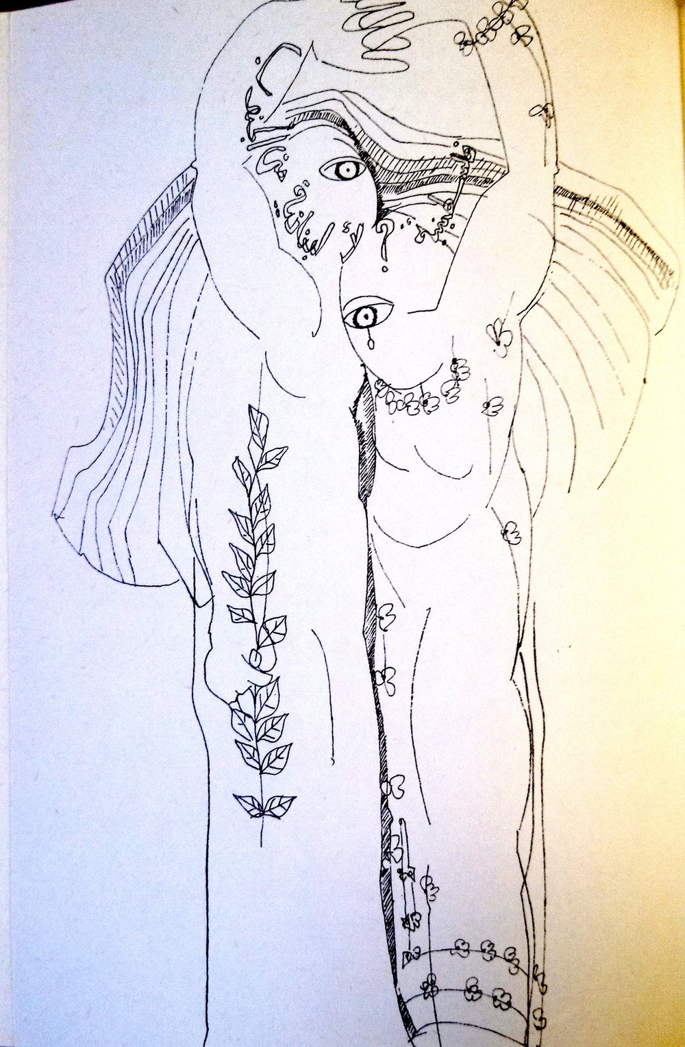 Fourth in a series by Mona Saudi, in Ghassān Kanafānī's  al-Āthār al-kāmilah , Vol. 1 (Beirut: Dār al-Ṭalīʿah, 1972).