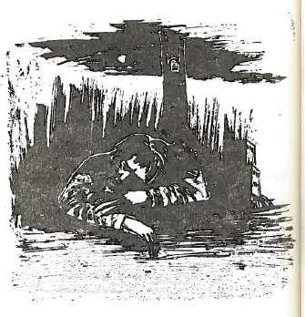 The drawings in this collection are by Palestinian artist Muṣṭafā al-Ḥallāj. 1st edition of  The Eyes of Dead Dogs .