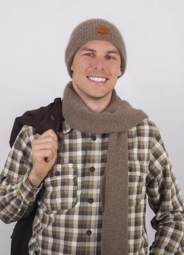 Wyld woollen scarf - single jersey knit lightweight, soft, warm