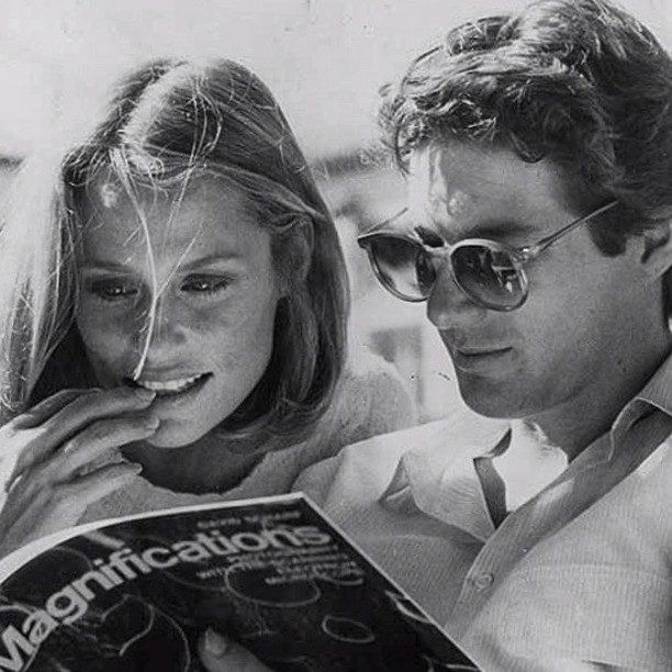 2fer tuesday Lauren Hutton and Richard Gere on the set of American Gigolo #1980s