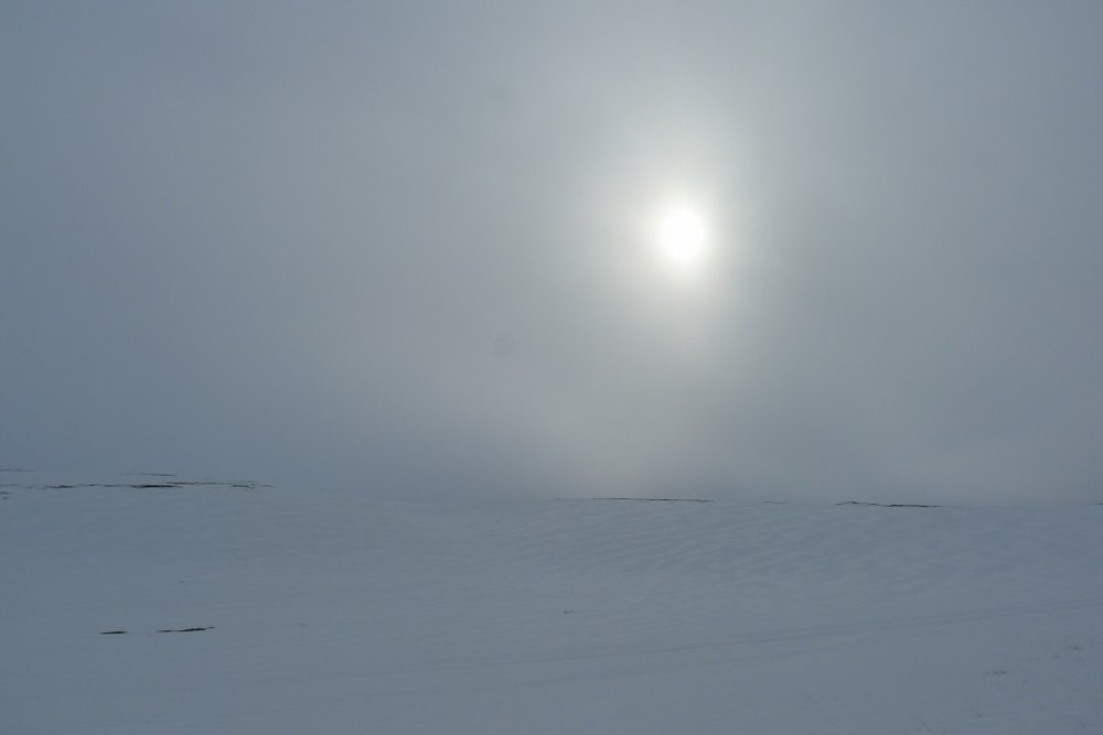 At times you could barely see where the landscape stopped and the sky began.