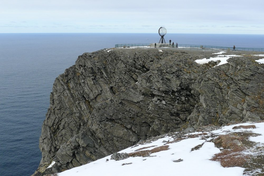 Nordkapp. The northernmost tip of Europe.