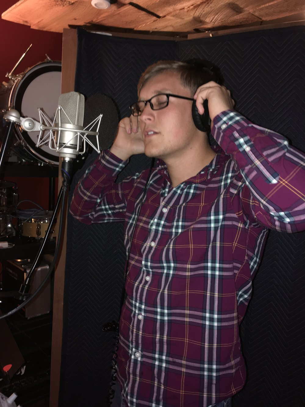 SGT Damian Knight in the Vocal Booth