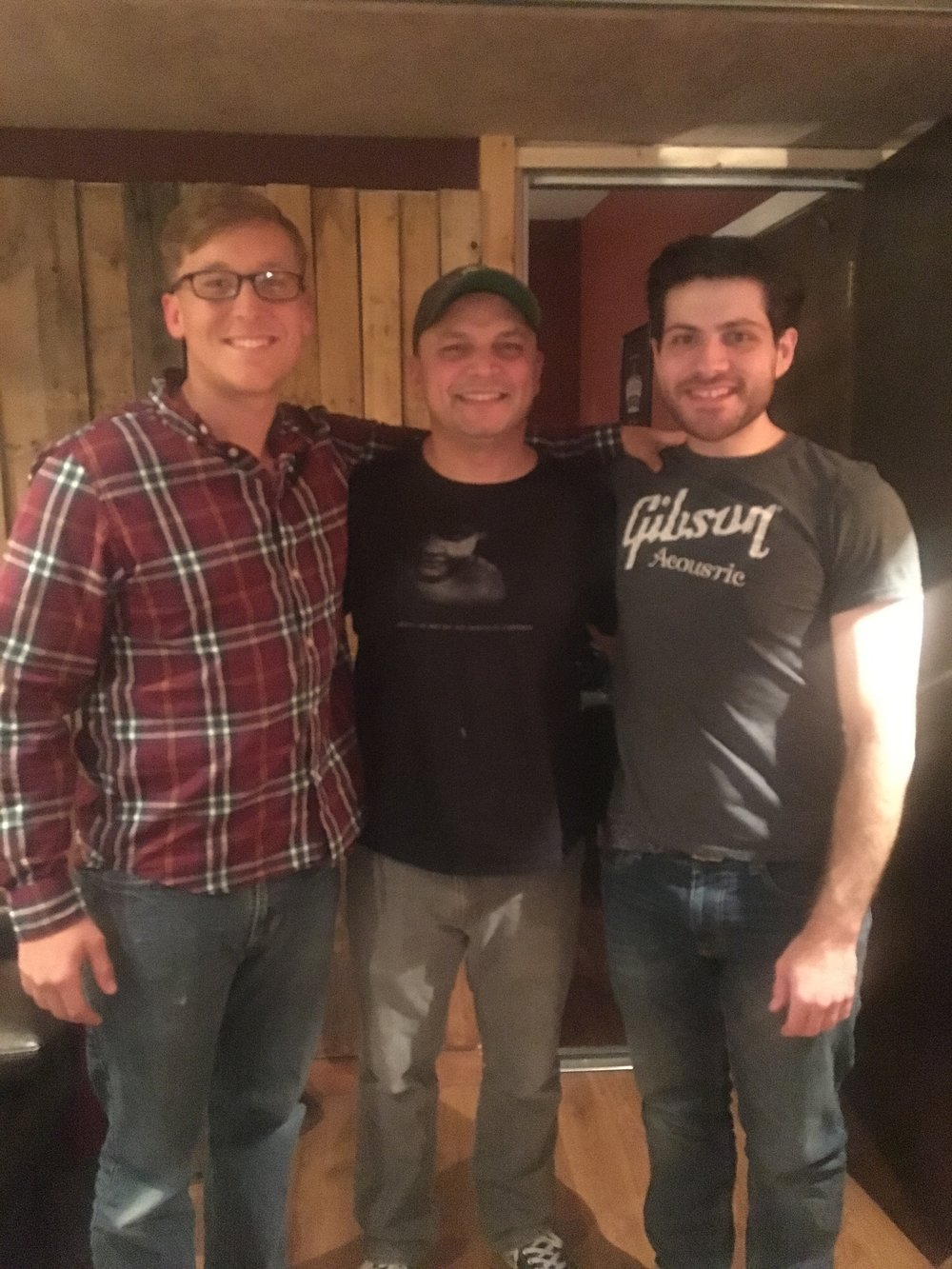 SGT Damian Knight, Producer Jerry Ramos and HSFV Ambassador/Guitar Player Cory Singer