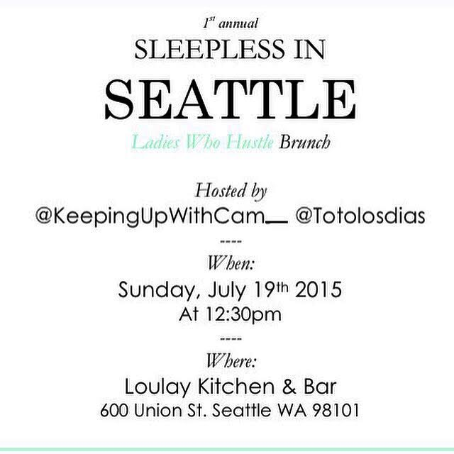 Sleepless in Seattle July 19, 2015 | Loulay Café | Downtown Seattle