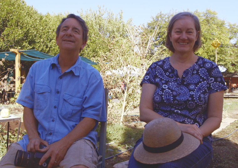 A rare photo. These two seldom sit still. Todd and Molly Hall explain the history of Kentfield Gardens and how they partnered with From the Ground Up to make a real impact on their community with the garden.