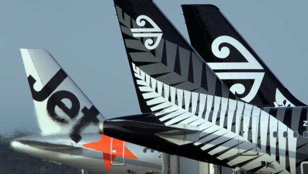 Jetstar Air NZ tails