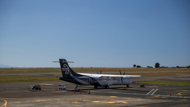Air NZ plane in nelson