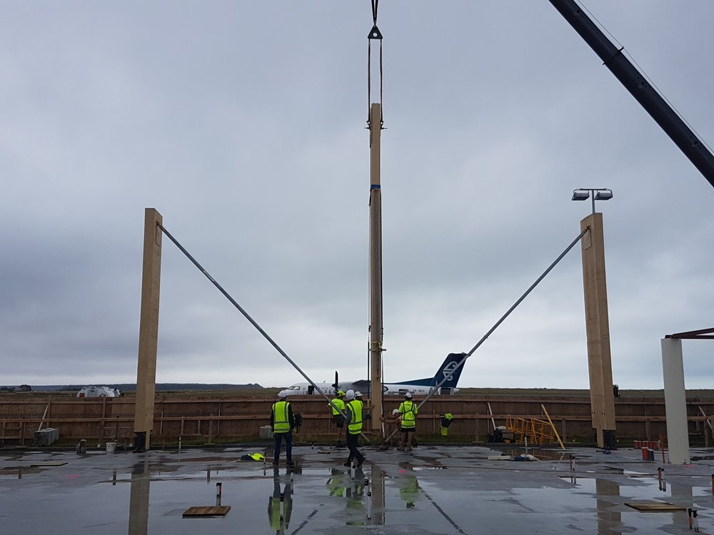 The terminal columns are going up