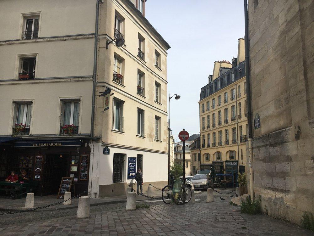 In front of Eglise Saint-Etienne-du-Mont