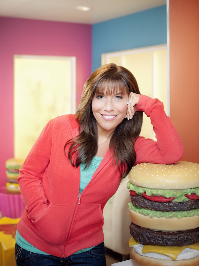 Host Lisa Lillien on set as seen on Cooking Channel's Hungry Girl season 2.