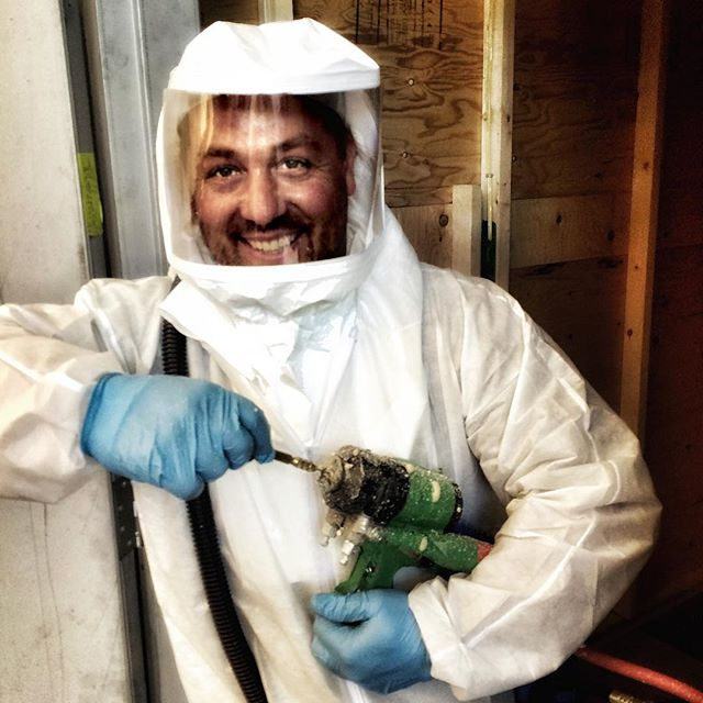 Eric always working with a smile! #arcticfoxsprayfoamltd #sprayfoam
