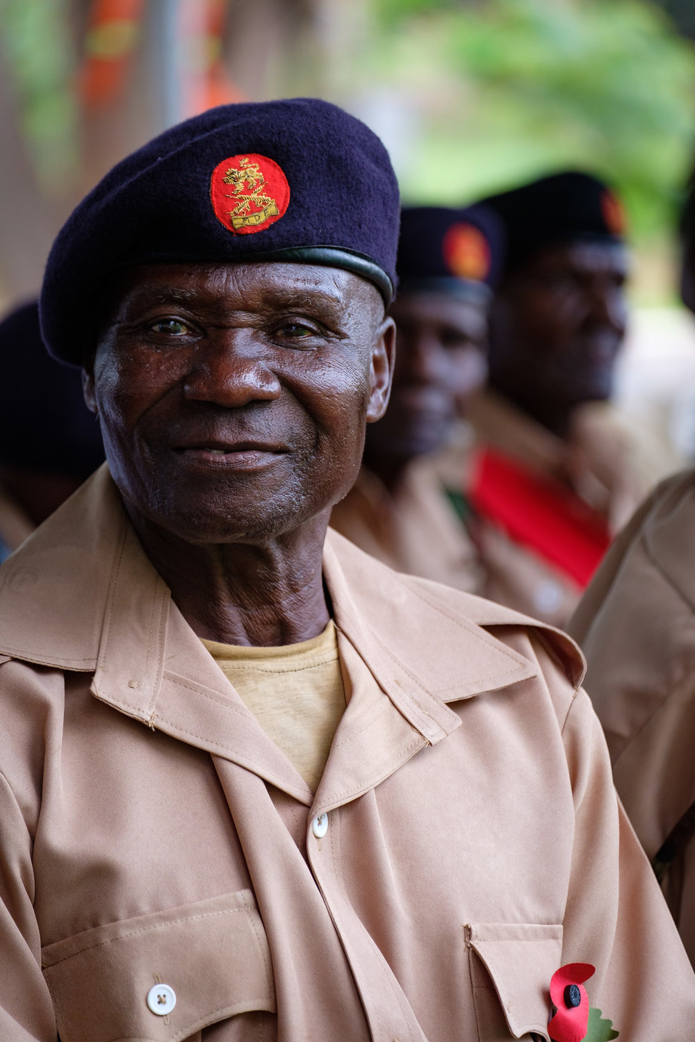 One of the World War II veterans. Those eyes may have witnessed Axis troops surrounding him in Moyale, or stared down a Japanese Banzai charge in Berma.