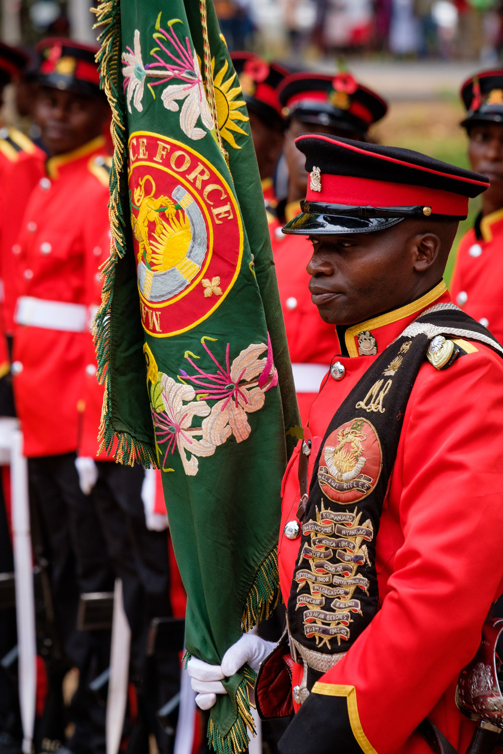 The 1st Malawi Rifles Battalion has military unit honors dating back to World War I