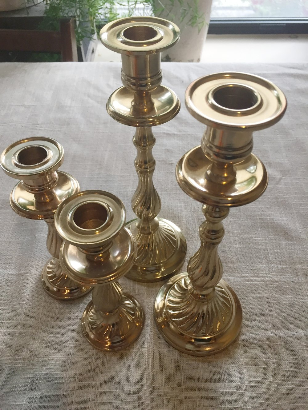 2 SETS OF CANDLE STICKS HOLDERS